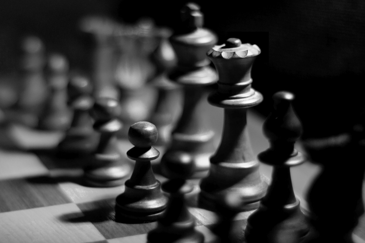 Black and white on the chess board