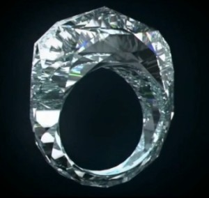 100% diamond ring, made by Shawish