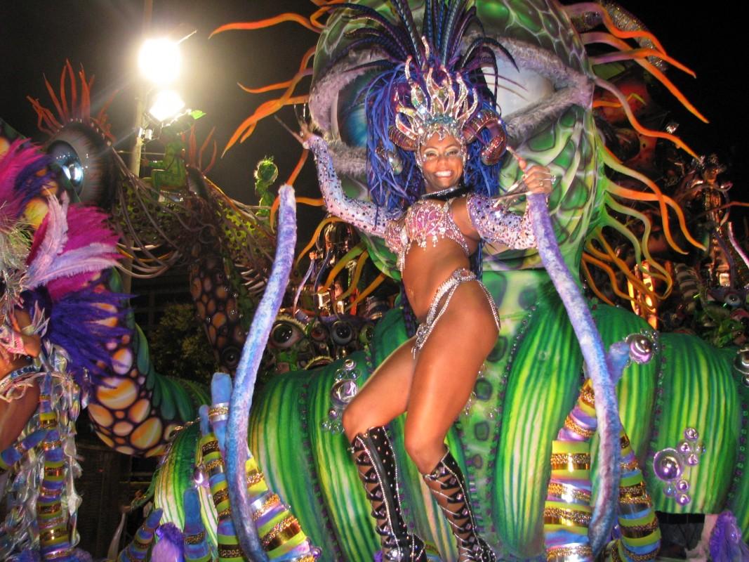 Exuberance at Carnival in Rio de Janeiro