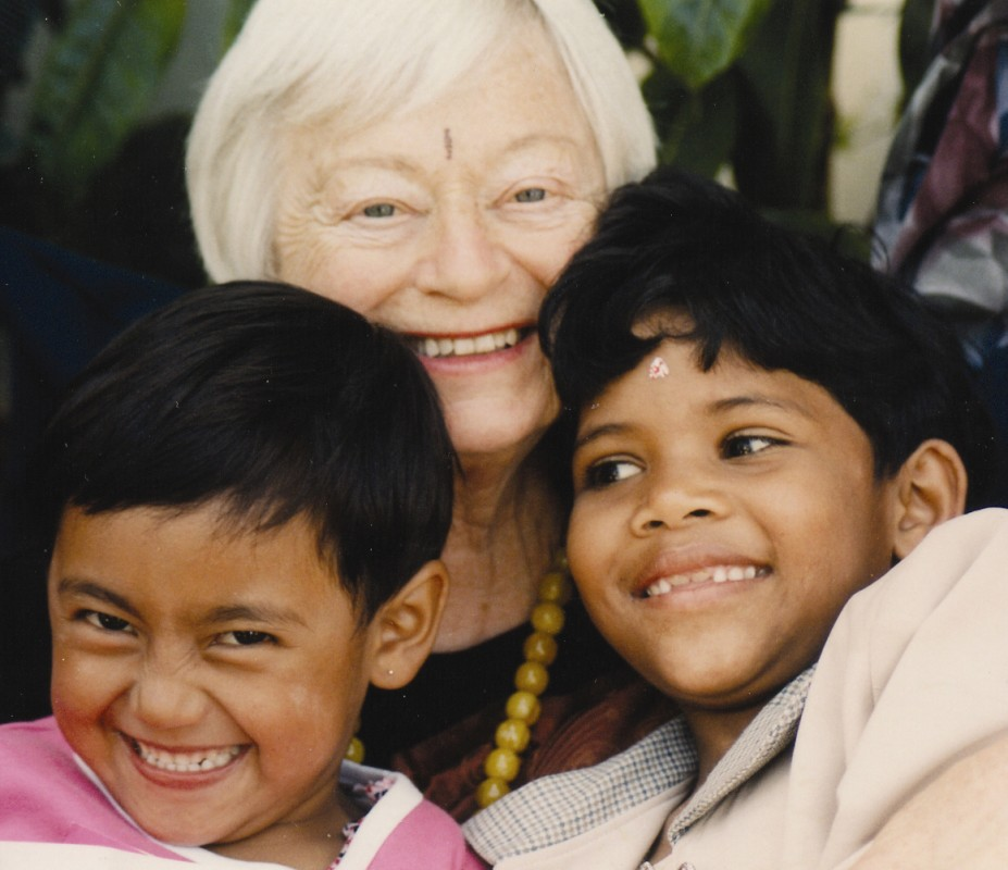 Olga Murray with two children from NYOF
