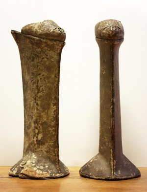 50 centimeters height chopine, made in XVIth century in Venice