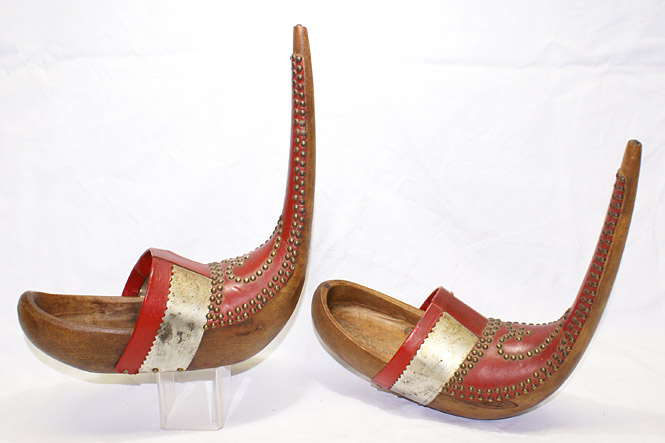 Wooden bridal shoes