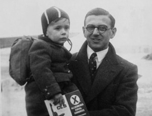Nicholas Winton with a child