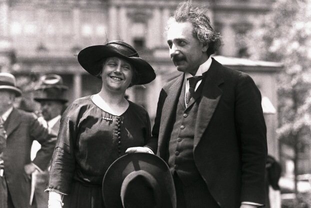 Elsa and Albert Einstein