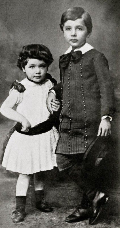 Maja and Albert Einstein