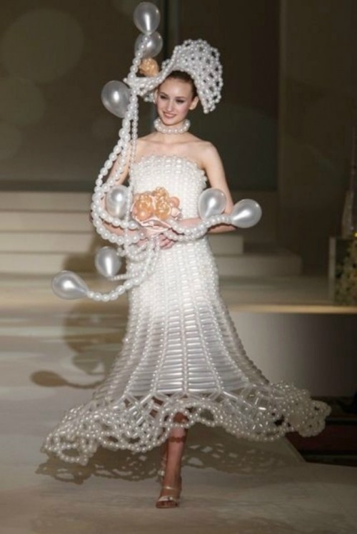 Balloon wedding dress