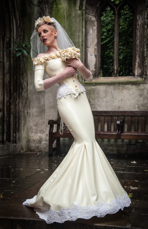 Latex wedding dress