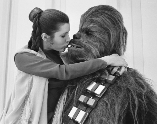 Leia and Chewbacca