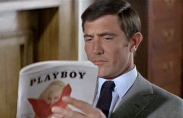 James Bond reading Playboy