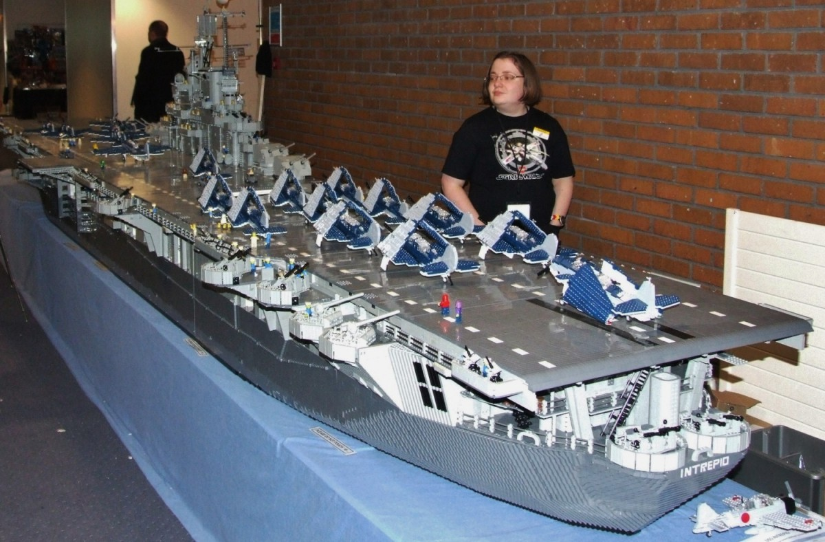 U.S.S. Intrepid made out of Lego