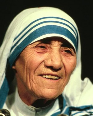 Mother Teresa smiling