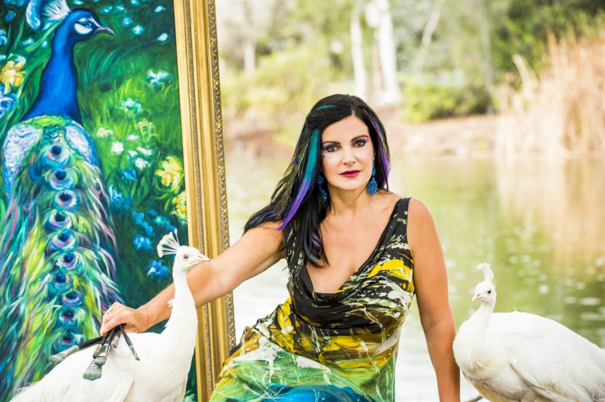 Concetta Antico with peacocks