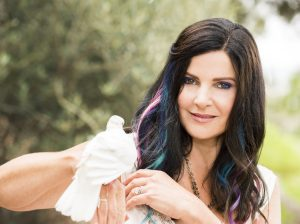 Concetta Antico with a dove