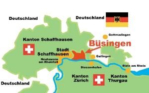 Büsingen on the map