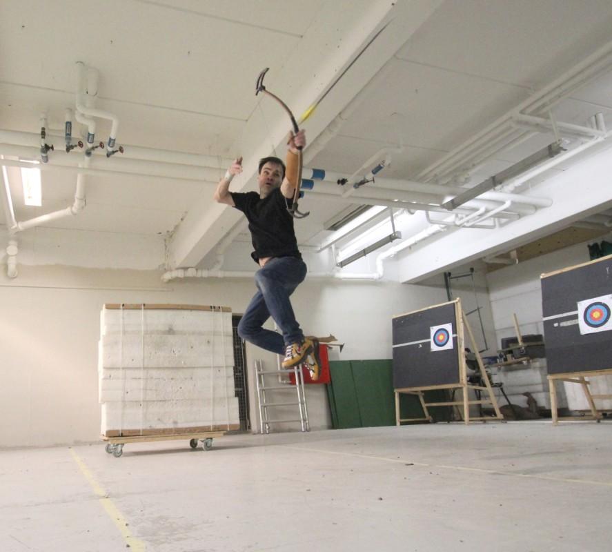 Lars Andersen at training