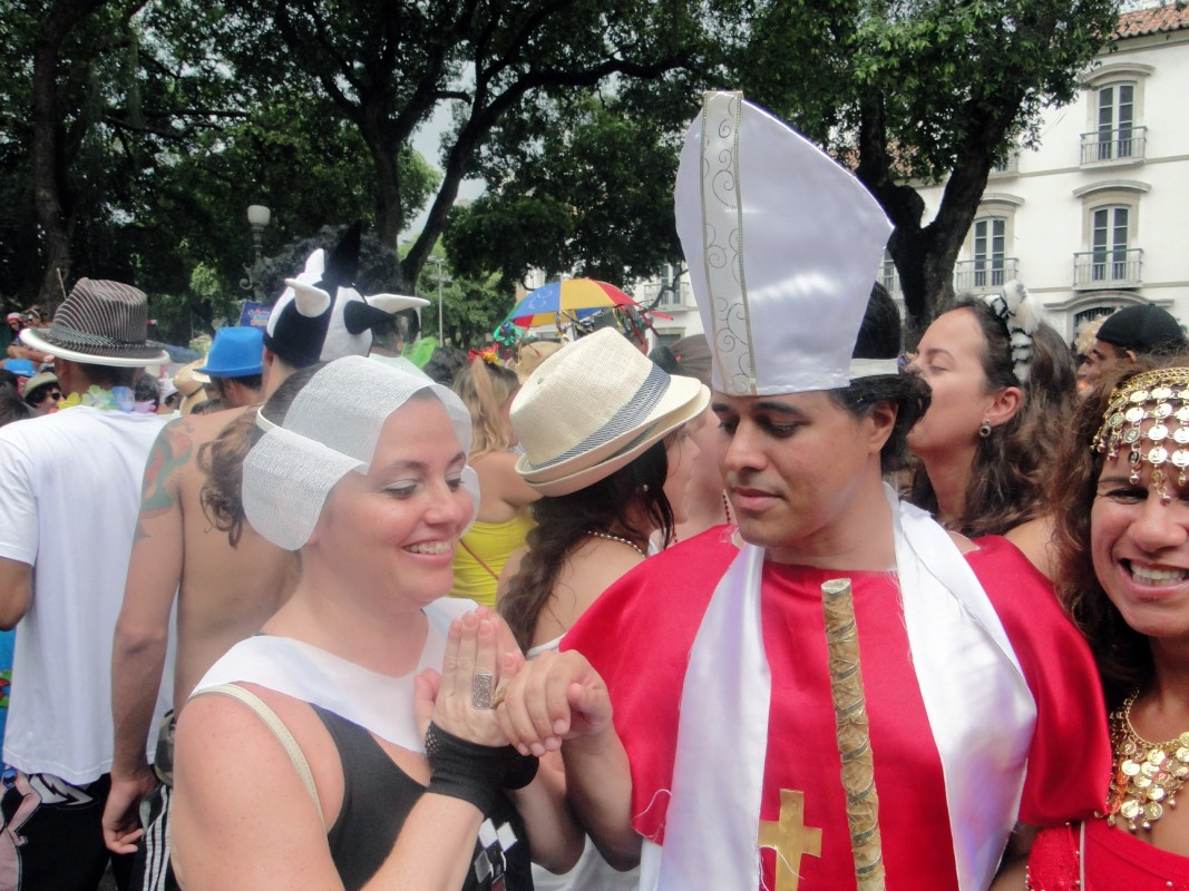 Fun in carnival costumes