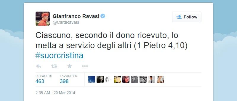 Gianfranco Ravasi on Twitter