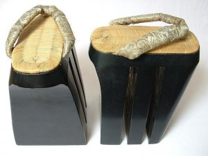 Oiran koma geta, made somewhere between 1912-1926
