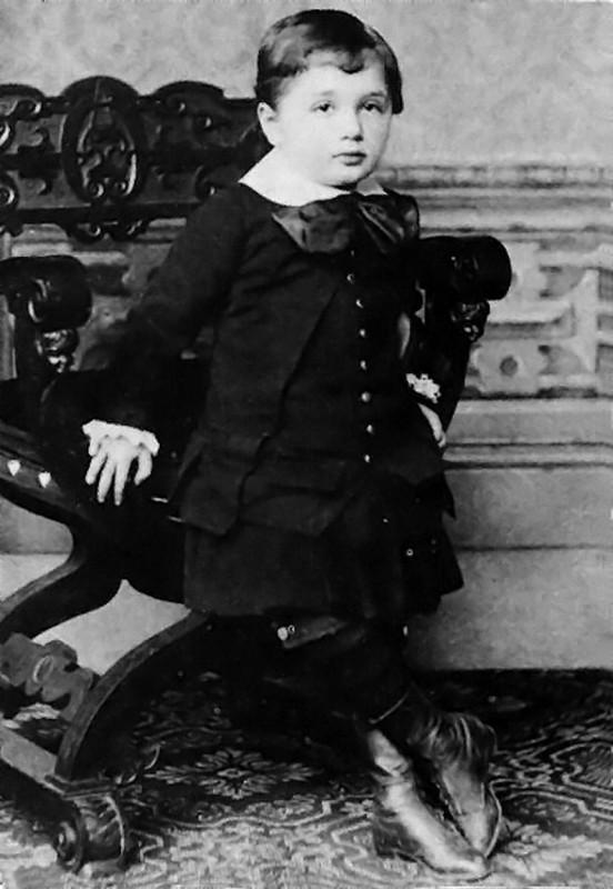 Albert Einstein at the age of 3