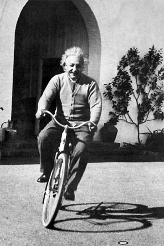 Albert Einstein - bicycle riding