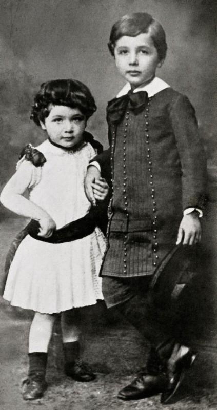 Maja and Albert Einstein