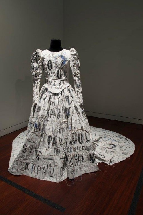 Dada Poem Wedding Dress