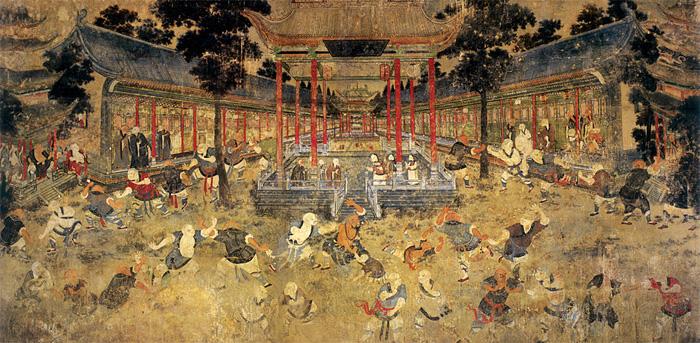 Mural at Shaolin Temple