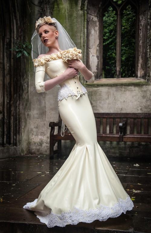 Latex wedding dress
