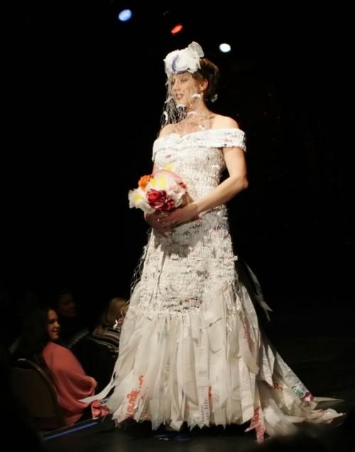 Plastic bag bride