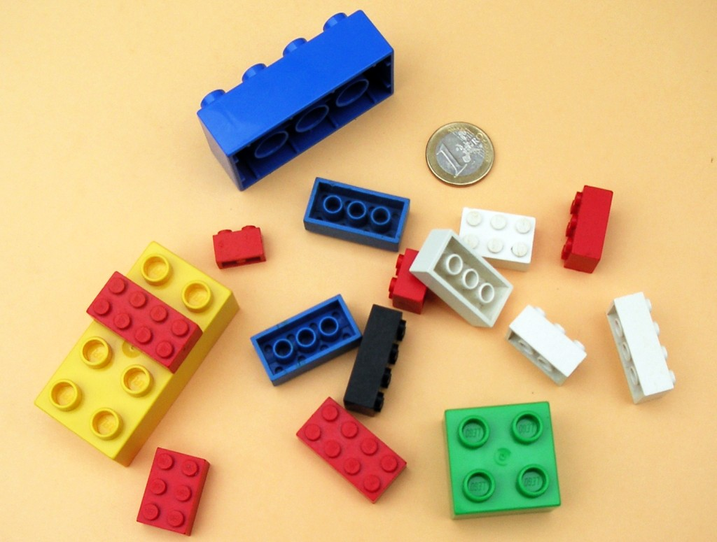 Lego and Lego Duplo bricks