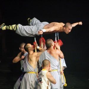 Shaolin Monk on spears