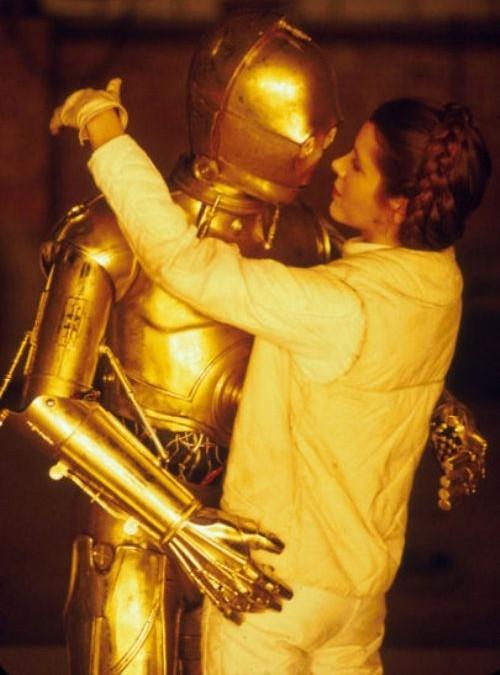 C-3PO and Leia
