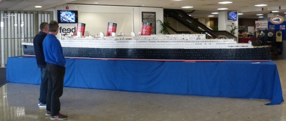 Queen Mary made out of Lego