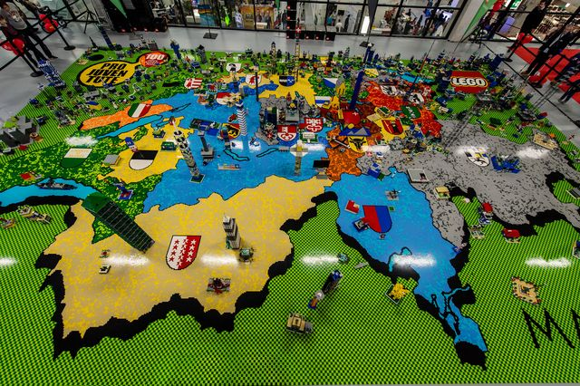 The Map of Switzerland made out of Lego