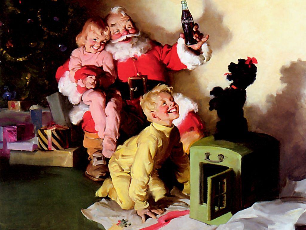 Santa Claus in a Coca-Cola commercial