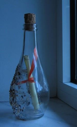 Beach-stranded bottle